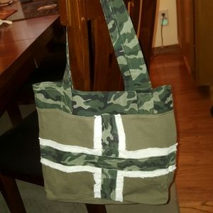 Ganz military color tote bag